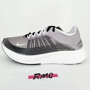 Nike Zoom Fly SP Running Shoes Grey Gray White
